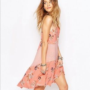 Free People Crescent Slip Dress In Floral Print